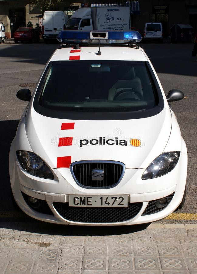 Polizia di Barcellona immagini stock