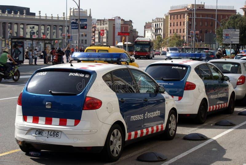Polizia di Barcellona immagine stock