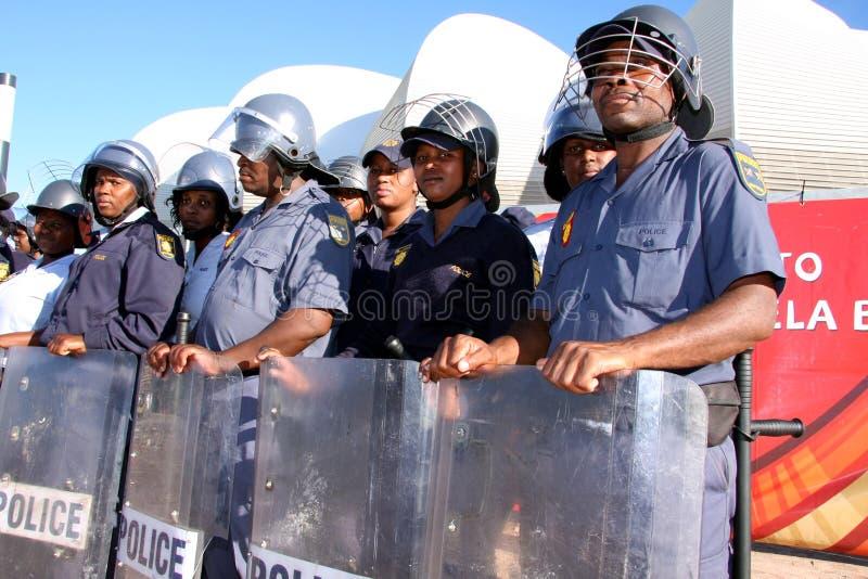 Polizia di tumulto della tazza di mondo fotografia stock libera da diritti