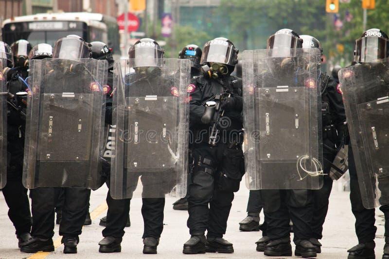 Polizia di tumulto G20 immagini stock libere da diritti