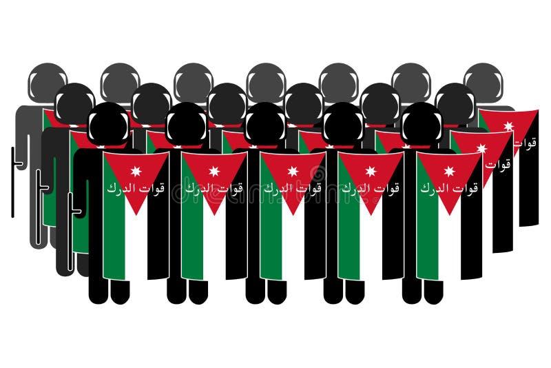 Polizia di tumulto giordana fotografia stock