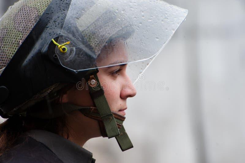Polizia di tumulto israeliana immagine stock libera da diritti