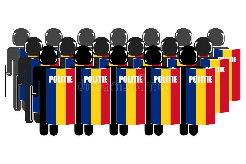 Polizia di tumulto rumena immagine stock libera da diritti