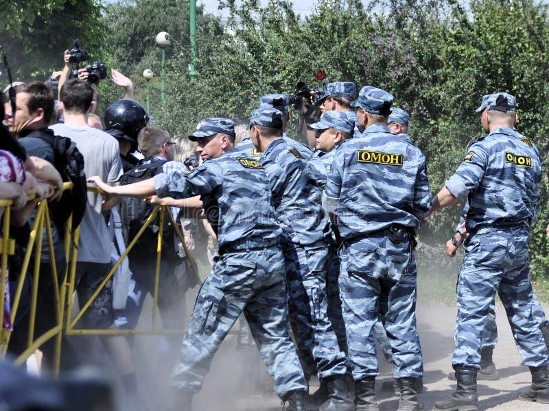 Polizia nel lavoro di fotografia stock libera da diritti