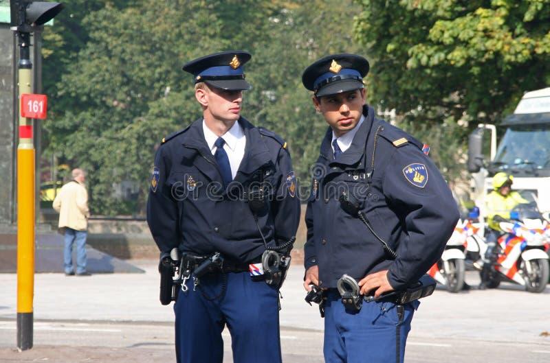 Polizia su Prinsjesdag fotografie stock