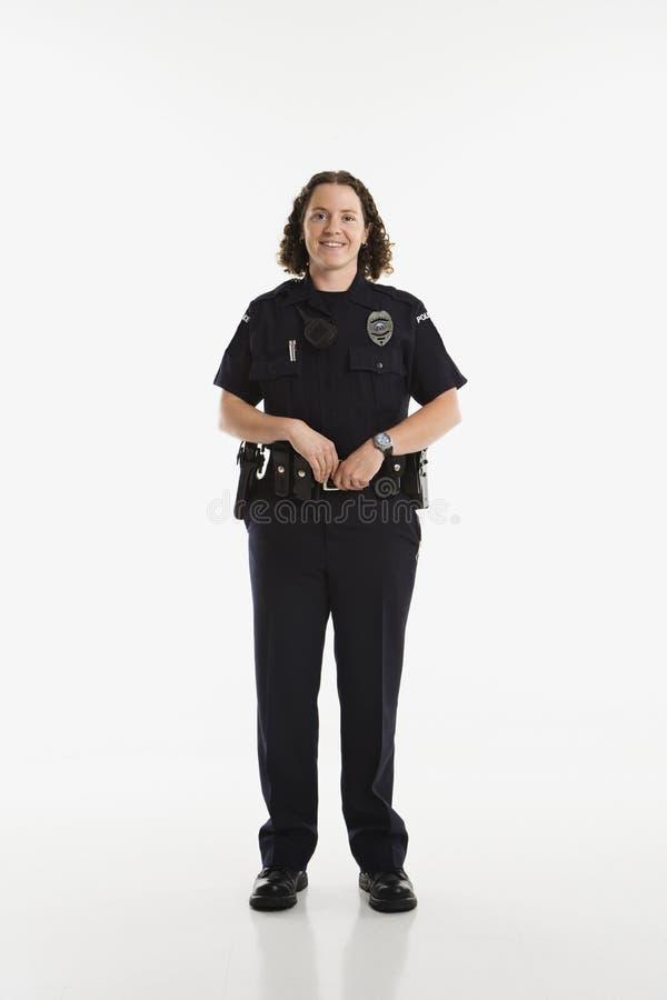Poliziotta. immagine stock