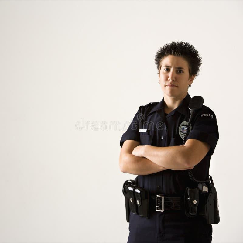 Poliziotta. fotografia stock