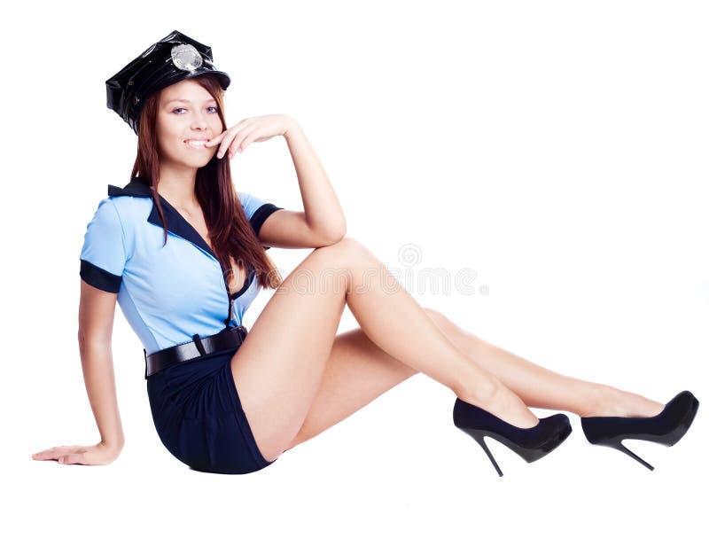 Poliziotta sexy immagini stock
