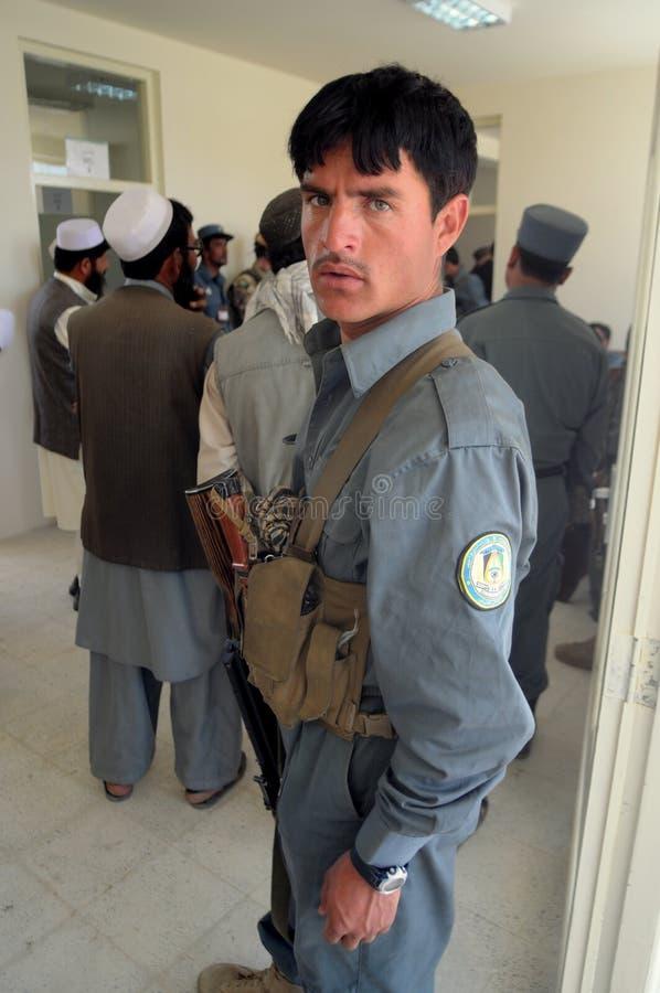 Poliziotto afgano immagine stock libera da diritti
