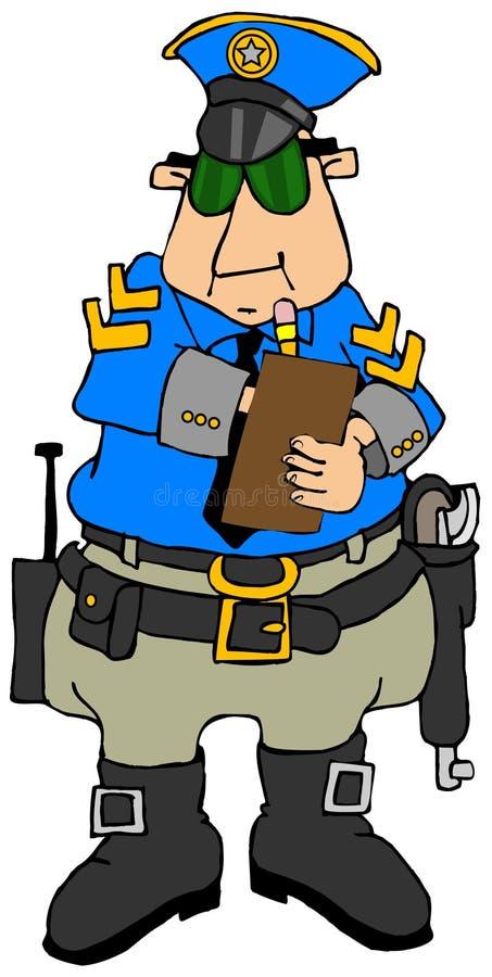 Poliziotto che scrive un biglietto royalty illustrazione gratis