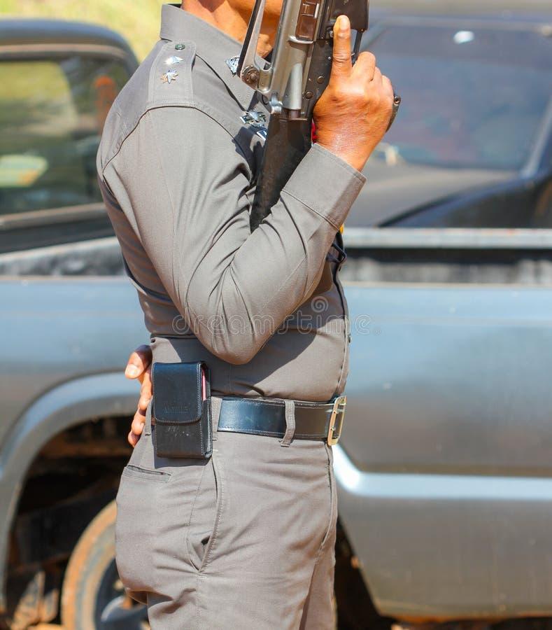 Poliziotto della Tailandia immagine stock libera da diritti