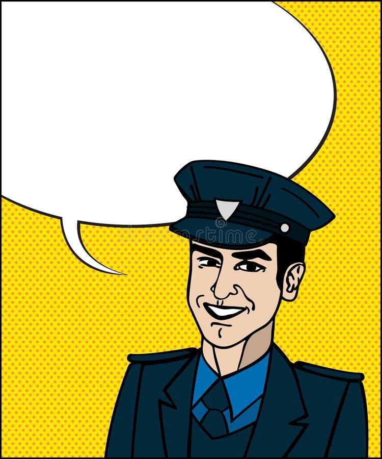 Poliziotto Di Pop Art Fotografie Stock