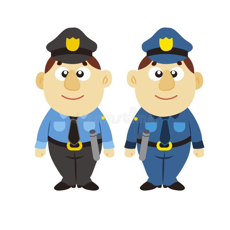 Poliziotto divertente del fumetto, due colori royalty illustrazione gratis