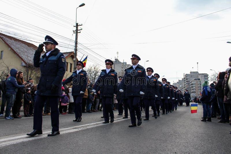 Poliziotto militare di parata di festa nazionale rumena fotografia stock libera da diritti