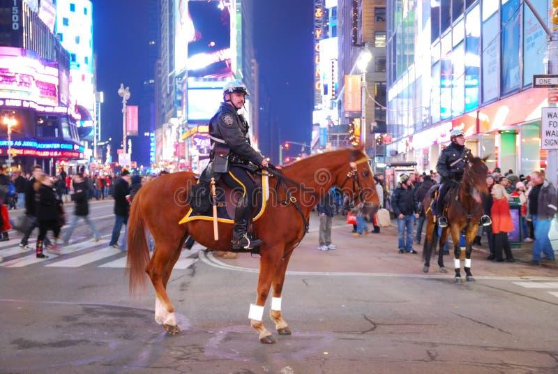 Poliziotto sul cavallo in Times Square, New York City immagine stock libera da diritti