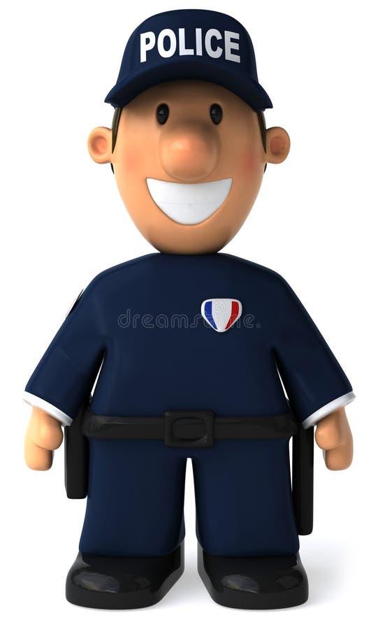 Polizist lizenzfreie abbildung