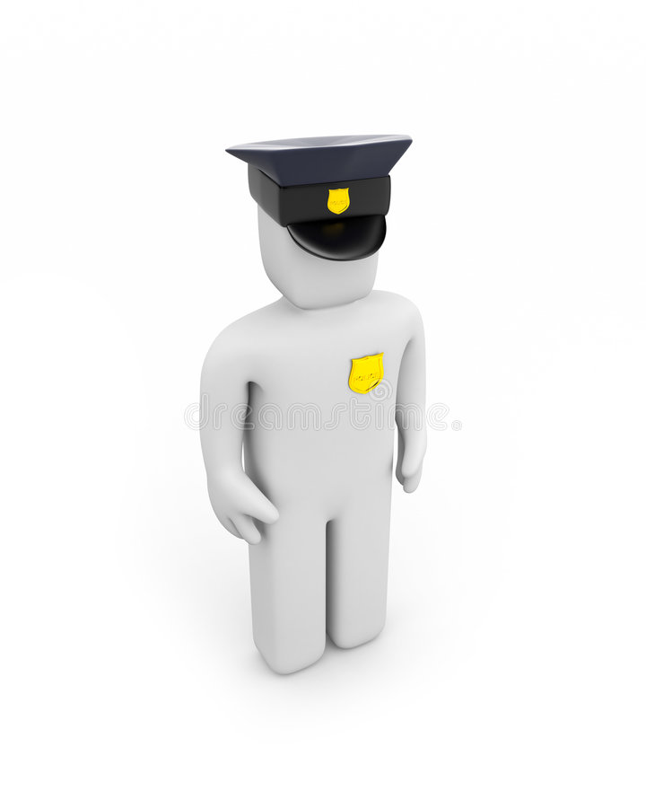 Polizist vektor abbildung