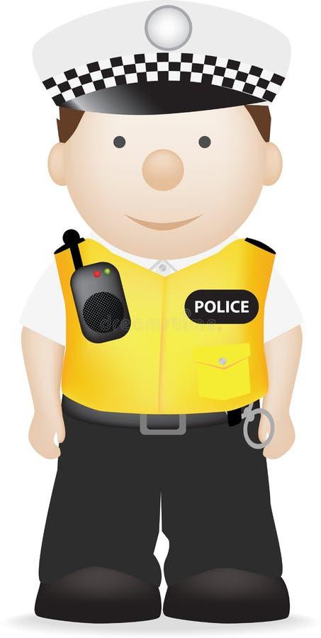 Polizist stock abbildung
