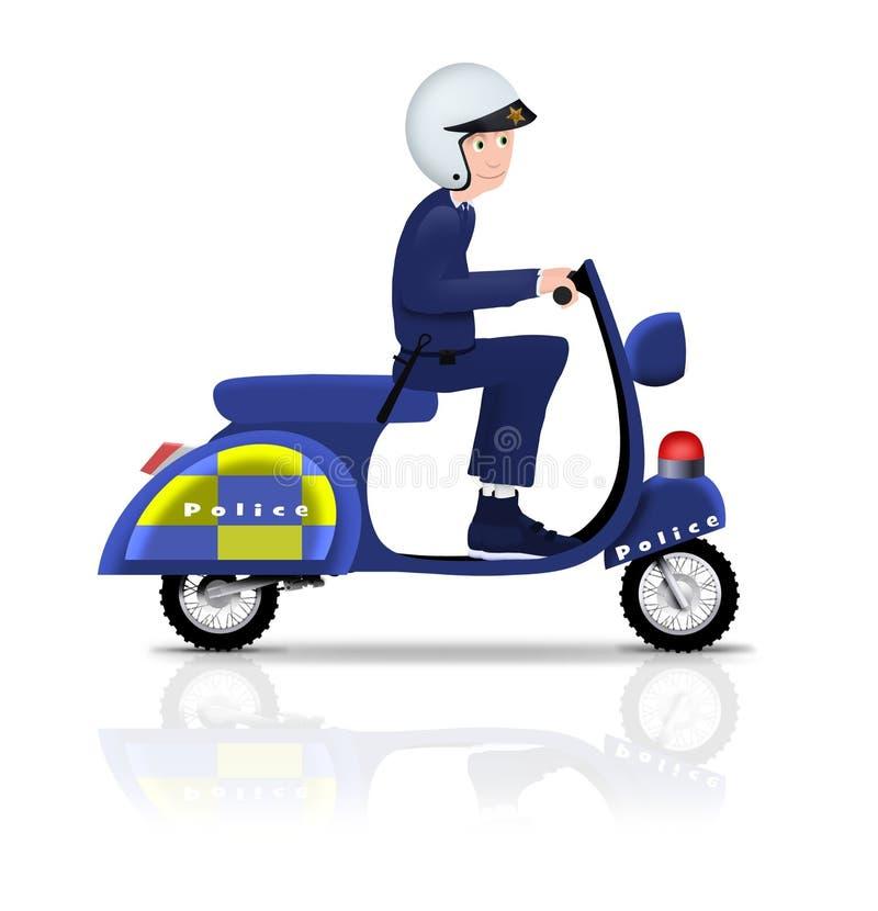 Polizist auf Roller vektor abbildung