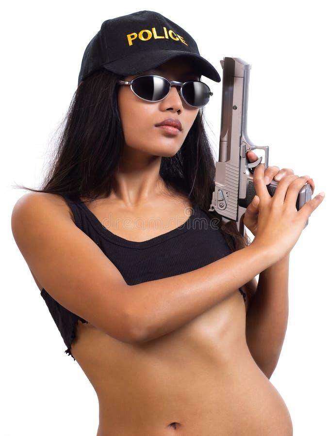 Polizistin lizenzfreies stockfoto