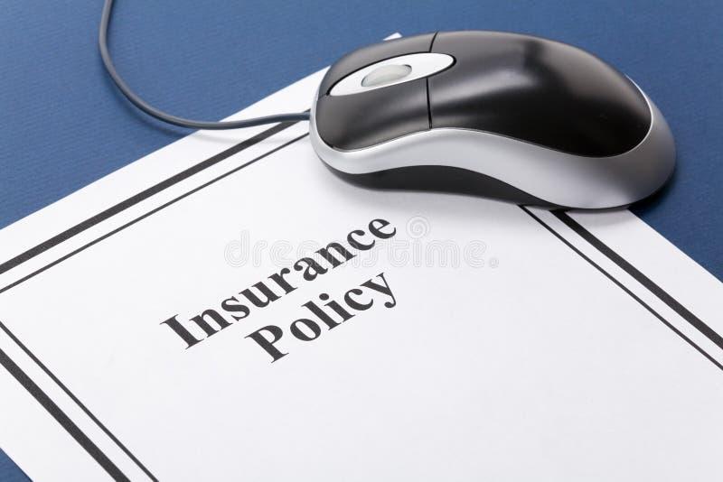 Polizza d'assicurazione immagini stock libere da diritti