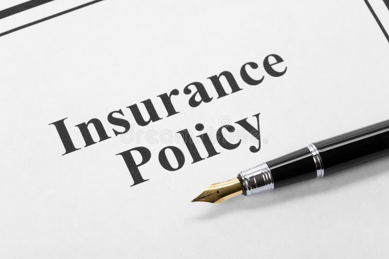 Polizza d'assicurazione immagini stock