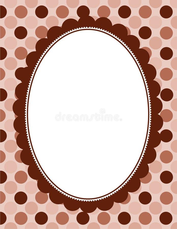 Download Polka border frame stock vector. Illustration of abstract - 24201726