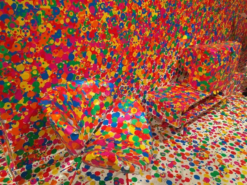 Polka dot art abstraction royalty free stock images