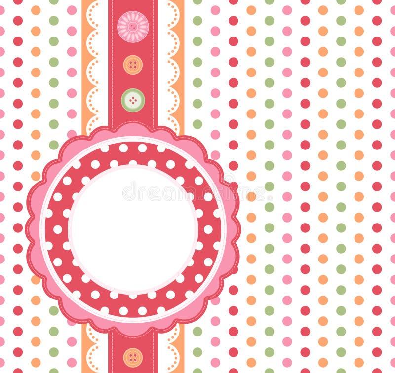 Polka dot background stock image
