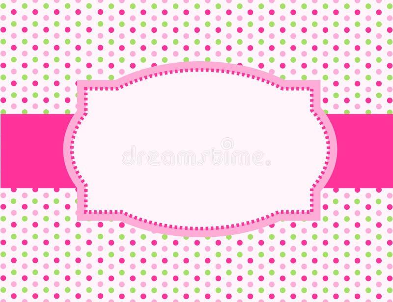 Polka dot background frame vector illustration