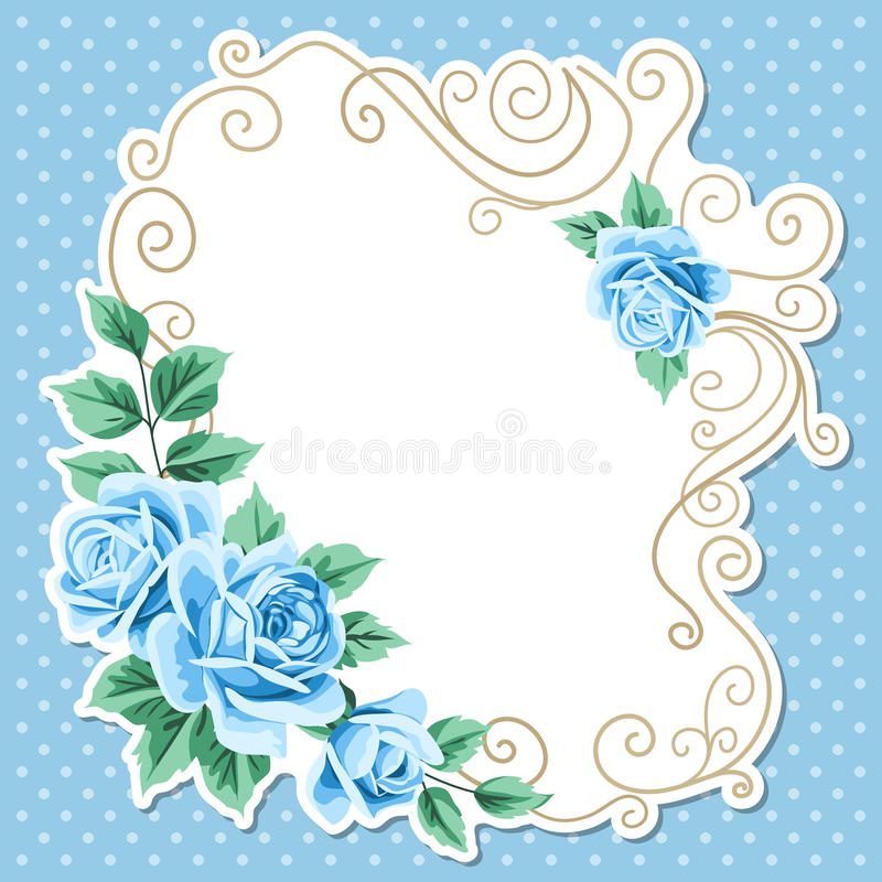 Polka dot background with roses royalty free illustration