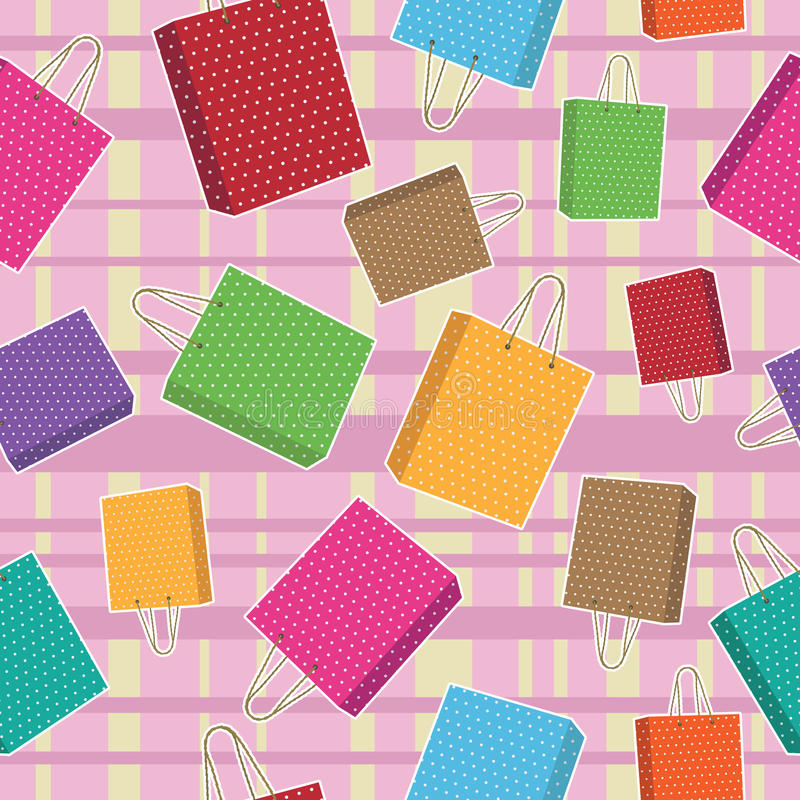 Download Polka dot bags pattern stock vector. Image of handle - 14581588