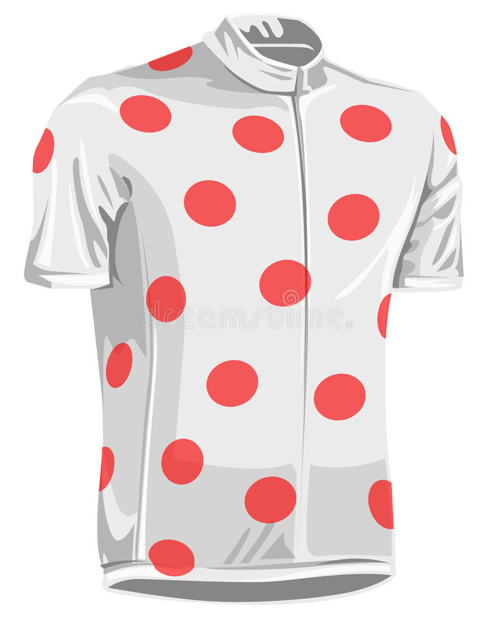 Download Polka dot bicycle jersey stock vector. Image of jersey - 9908583