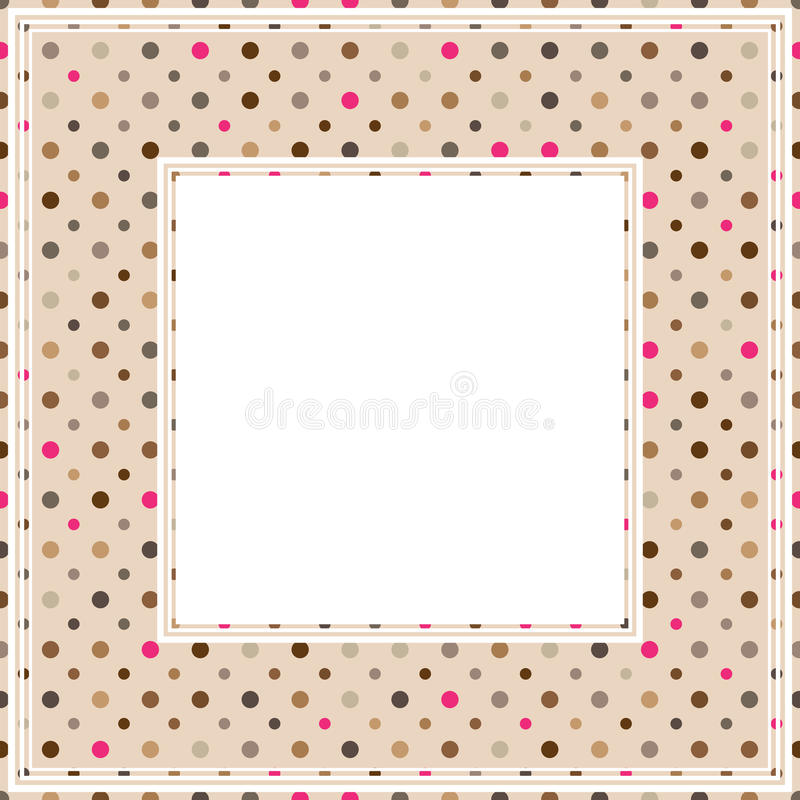 Polka dot border vector illustration