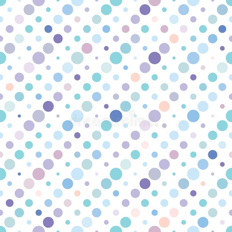 Polka dot colorful seamless pattern. royalty free illustration