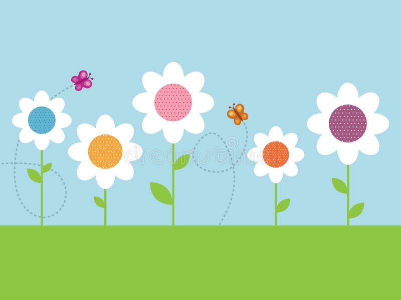 Download Polka dot daisies stock vector. Illustration of petal - 11164452