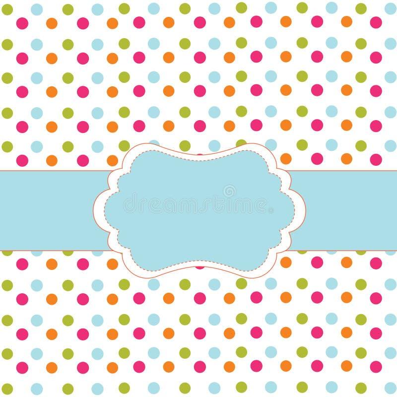 Polka dot design stock illustration