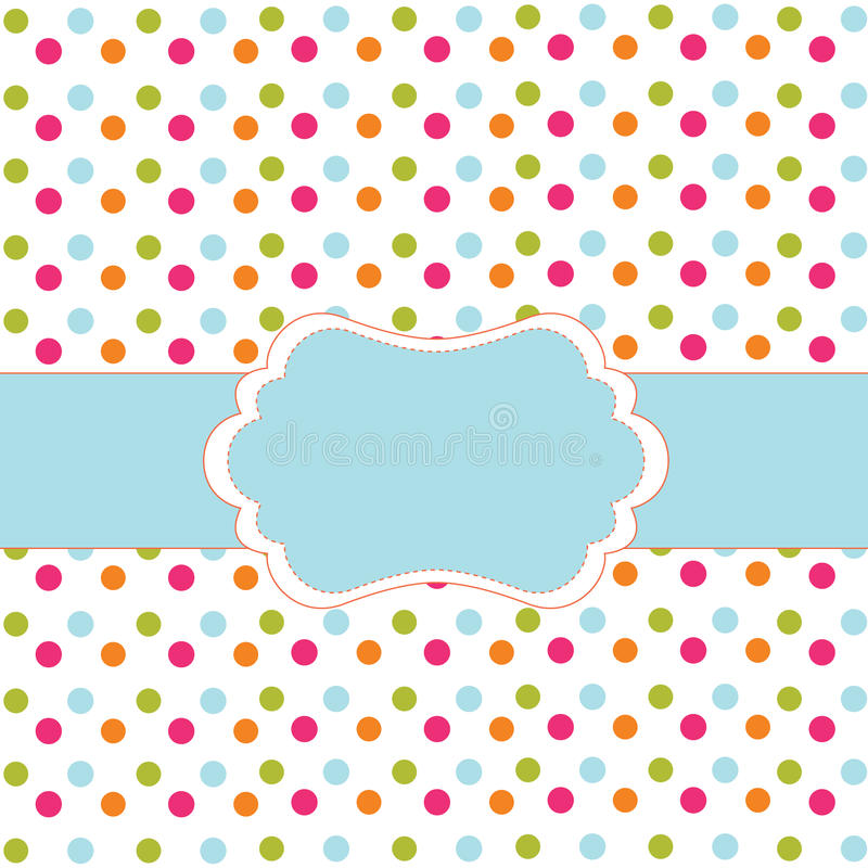 Download Polka dot design stock vector. Image of abstract, drawing - 15116005