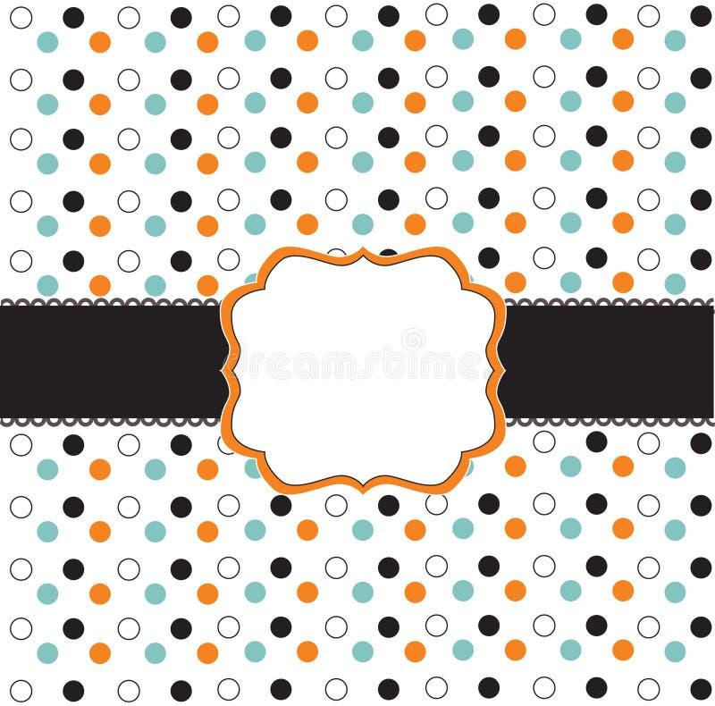 Polka dot design with black elements