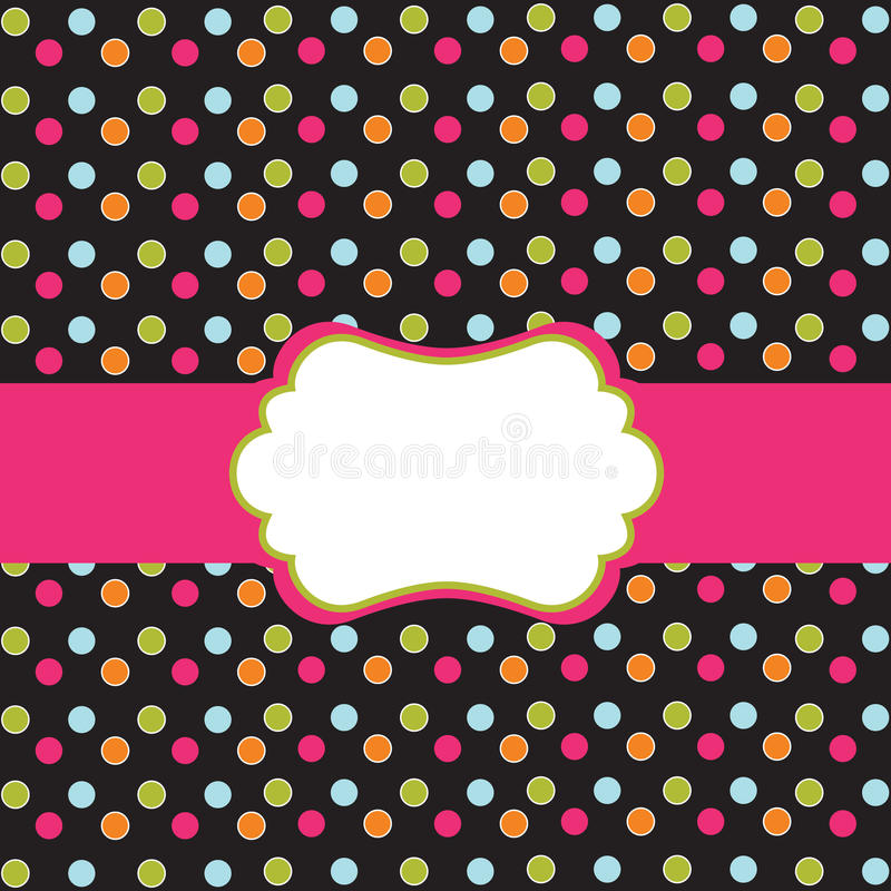 Download Polka Dot Design With Frame Royalty Free Stock Image - Image: 15268456