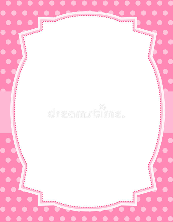 Polka dot design with frame vector illustration