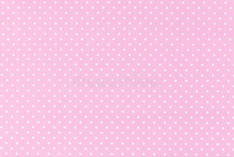 Polka dot fabric stock photos