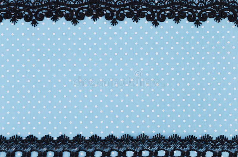 Polka dot fabric royalty free stock image