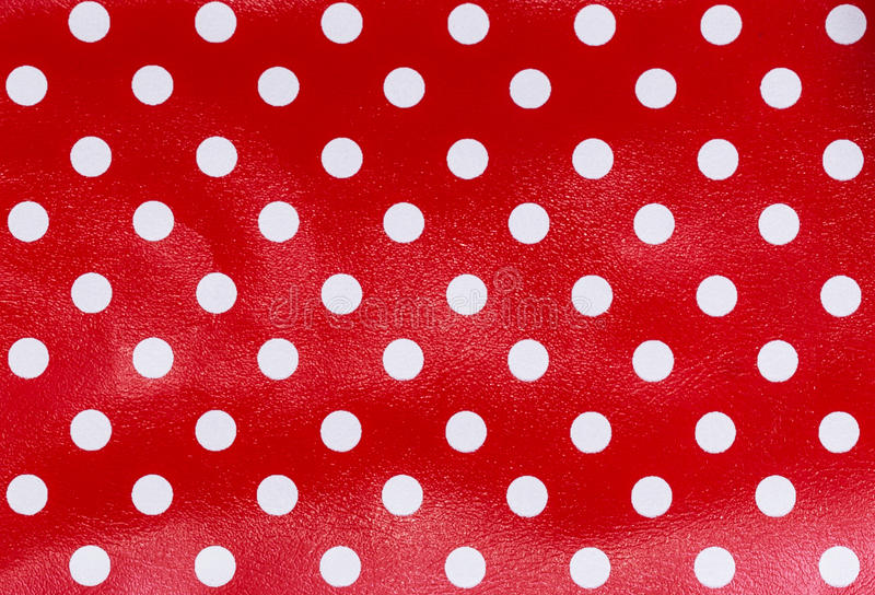 Polka dot fabric stock photography