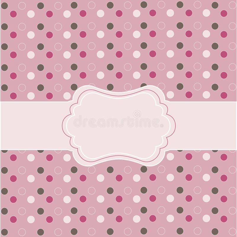 Download Polka dot  frame stock vector. Image of doodle, invitation - 15653004