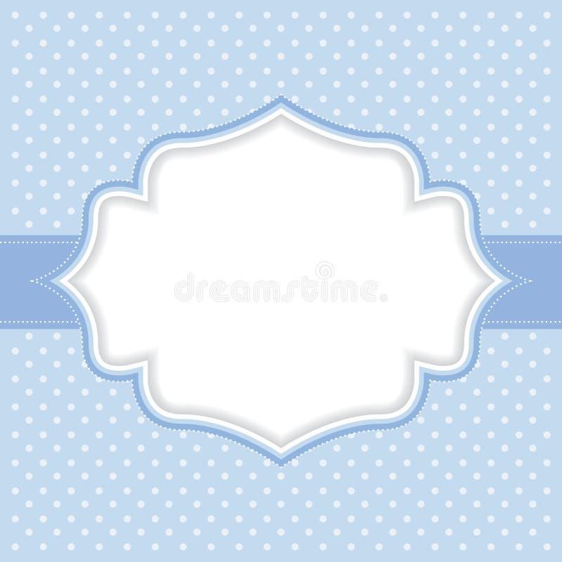 Polka dot frame vector illustration