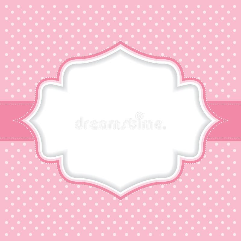 Polka dot frame. Pink Polka dot frame. Vector background