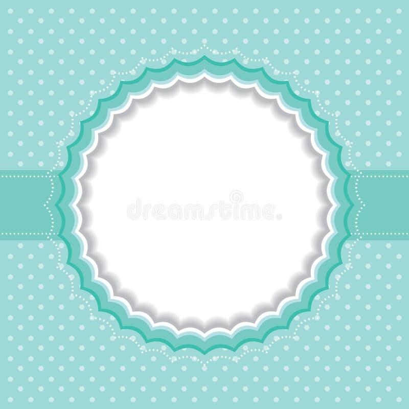 Polka dot frame royalty free illustration