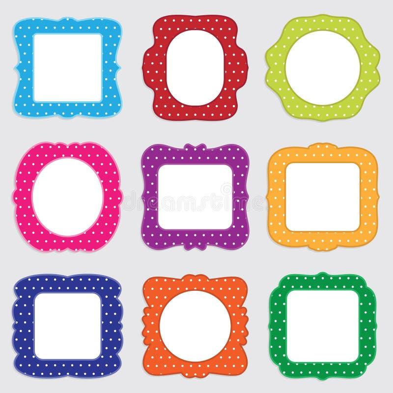 Polka dot frames stock vector. Illustration of orange - 21573275