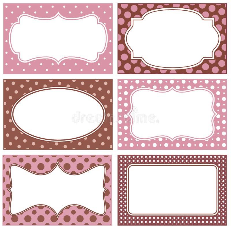 Polka dot frames stock vector. Illustration of spot, white - 51830047